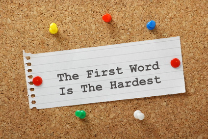 The First Word is The Hardest Writing Concept