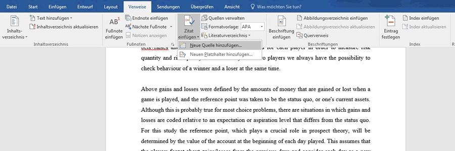 Wie Erstelle Ich Ein Automatisches Literaturverzeichnis