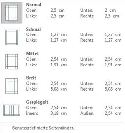Wie ändere ich die Seitenränder meines Dokuments?